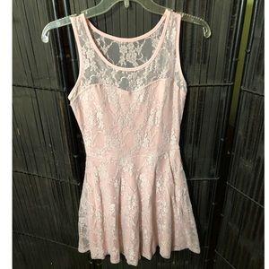 Pink Lace Dress size S Ruby Rox JRs